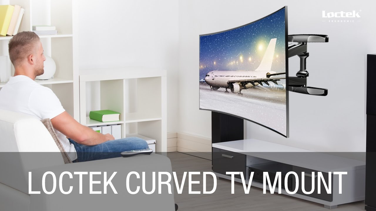 Installation Guide Of Loctek Curved Tv Mount R2 Youtube