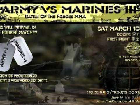 Marines Vs Army >> Beat Down MMA Army Vs. Marines - YouTube