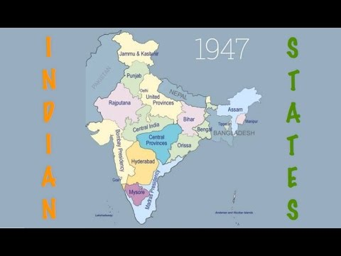 Indian states and capitals formation after Independence. History of 29 States of India.