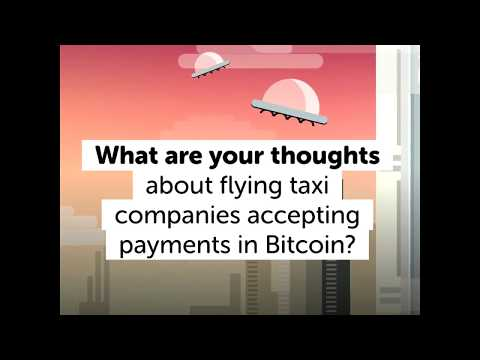 Bitcoin-Friendly Companies Enter the Flying Taxi Business