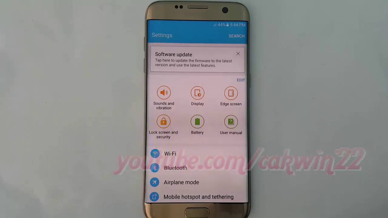 Samsung Galaxy S7 Edge How To View Security Certificates Android