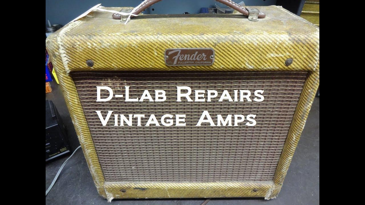 How To Repair Noise Vintage Fender Champ Tweed Tube Guitar