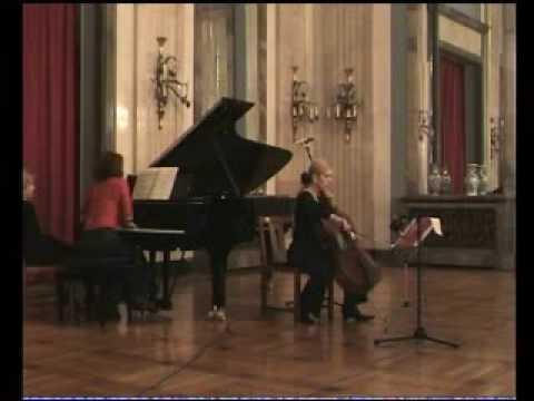 P.I.Tchaikovsky  Valse sentimental,  October  Sanja Jancic- cello  Aurelie Tremblay-piano
