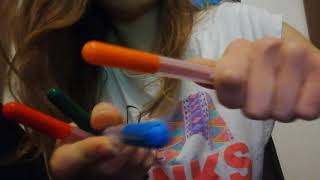 ASMR mouth sounds, tapping, hand movements