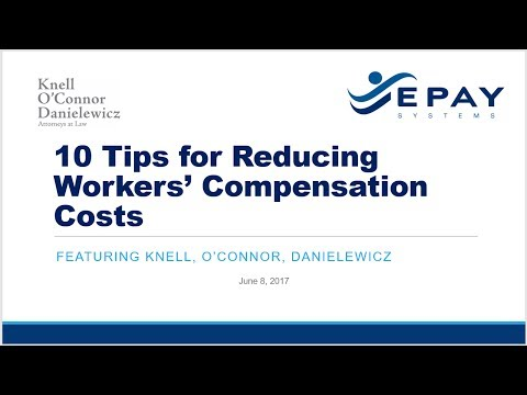 10 Tips for Reducing Workers' Compensation Costs