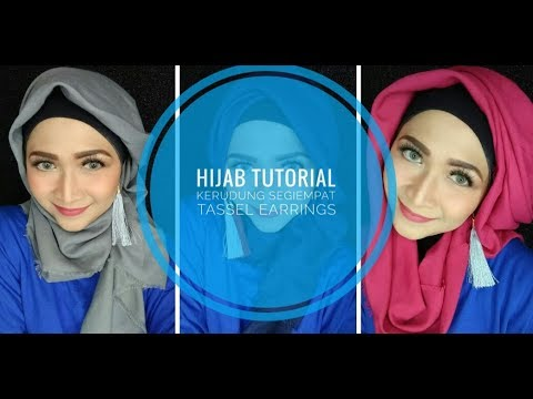 Tutorial Hijab Segiempat  Tassel Earings  Anting Jilbab  YouTube