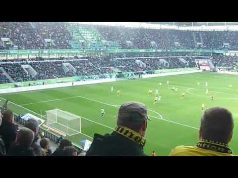 VFL Wolfsburg 1-3 Borussia Dortmund  7.04.12  Stimmung im Stadion