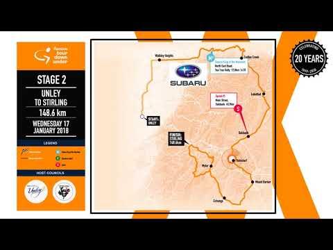 Stage map | Stage 2 | Santos Tour Down Under