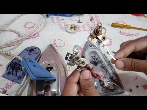 Repairing an Electrical Iron and changing its defective thermostat