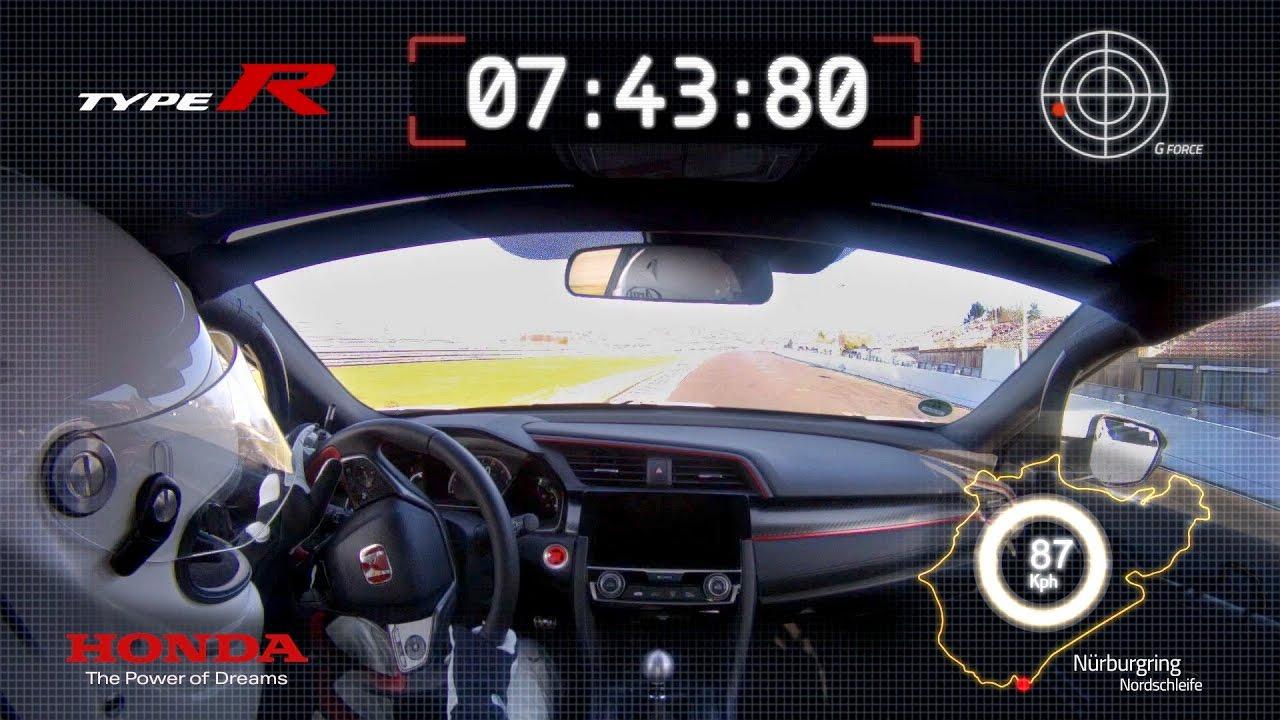 2017 honda civic type r sets nurburgring lap record hot lap youtube. Black Bedroom Furniture Sets. Home Design Ideas