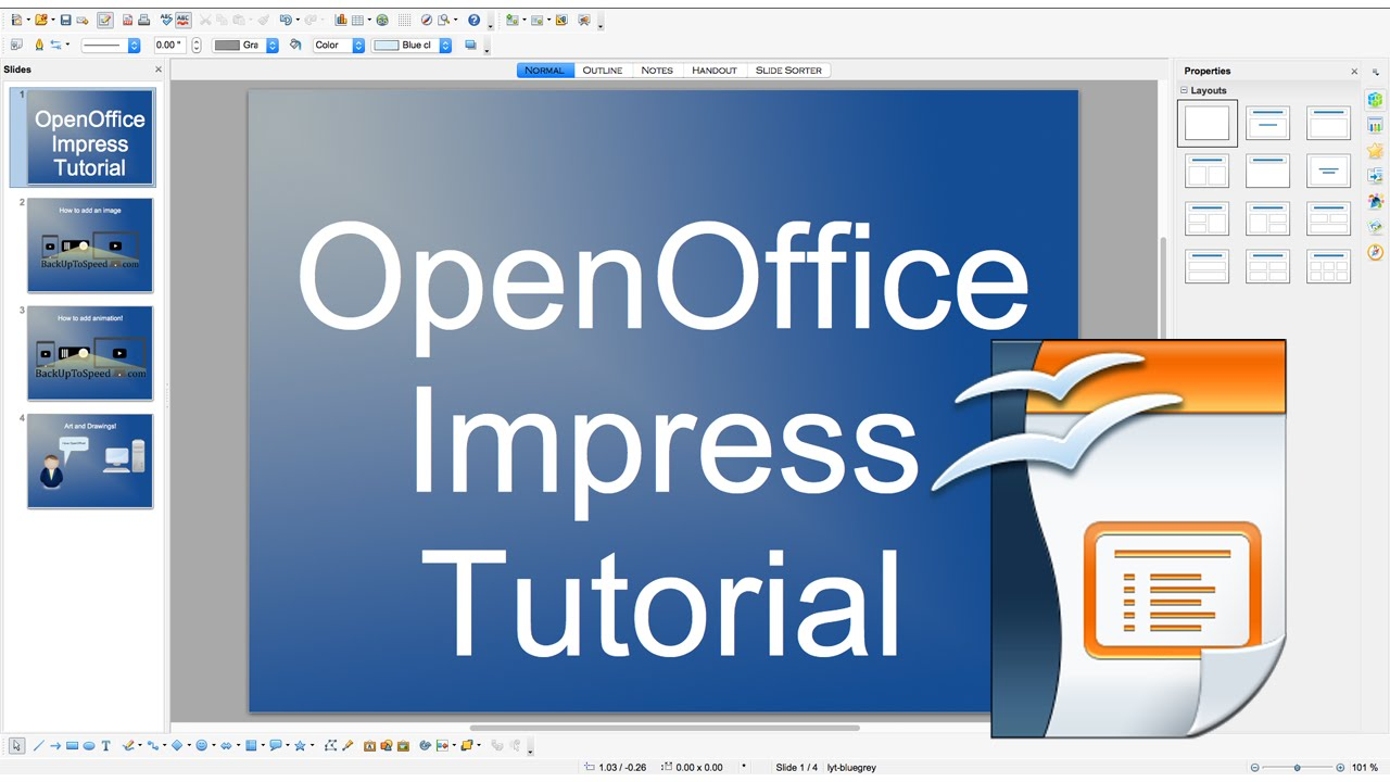 Openoffice impress tutorial youtube.