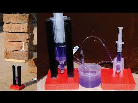 How to Make a Powerful Hydraulic Jack using Syringe