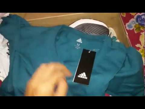 Adidas Unboxing KYRIS 1 and tees - YouTube