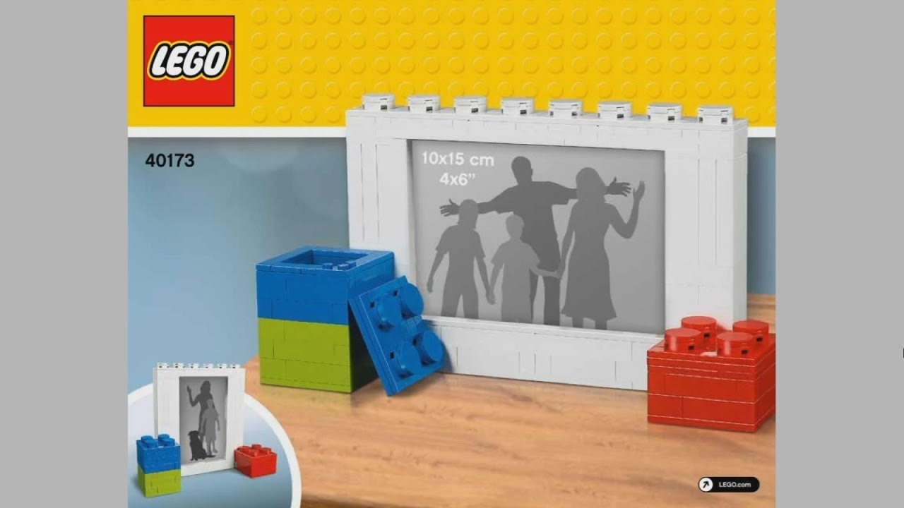 how to make a lego picture frame