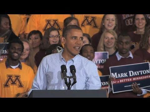 President Barack Obama visits the University of Minnesota