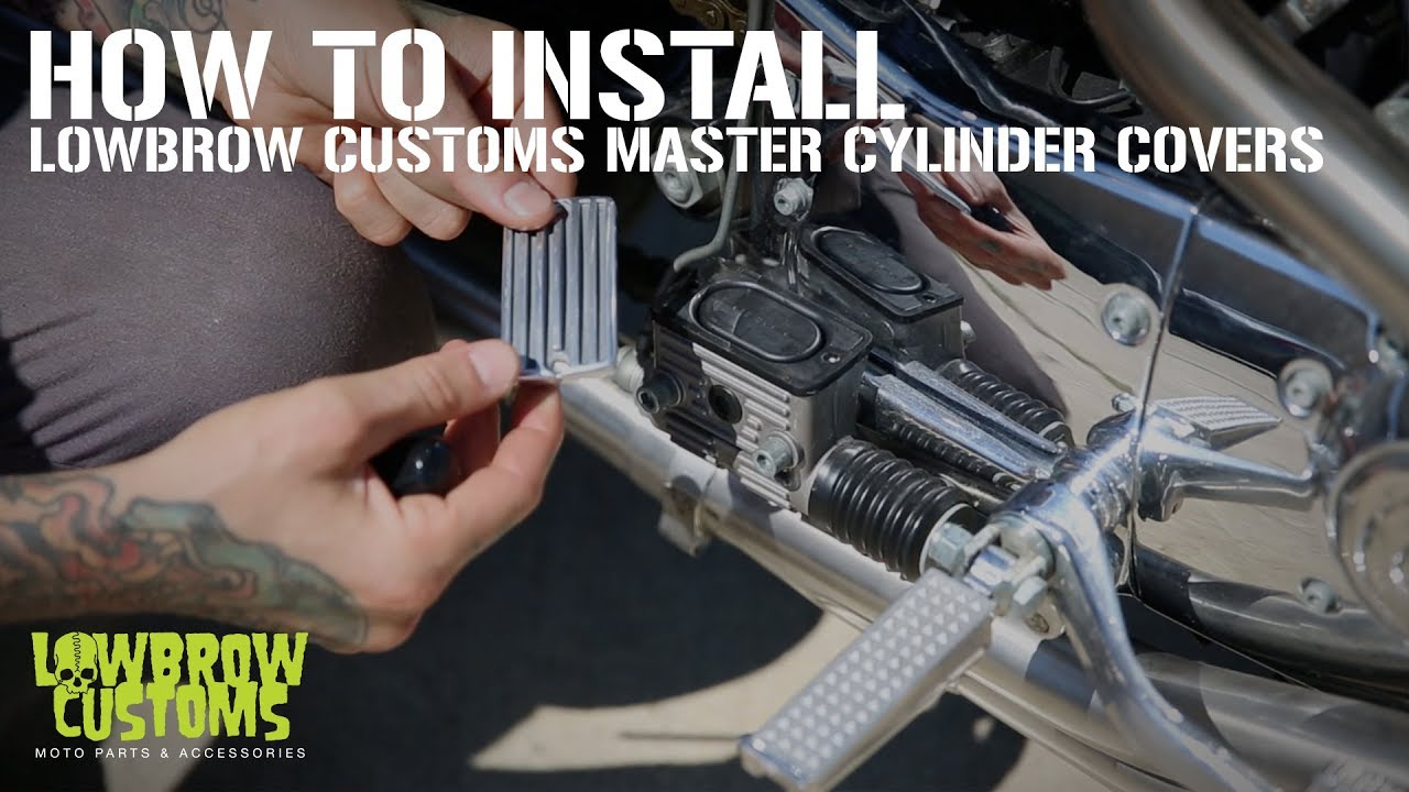 VIDEO: Lowbrow Customs Harley-Davidson Master Cylinder Cover Install