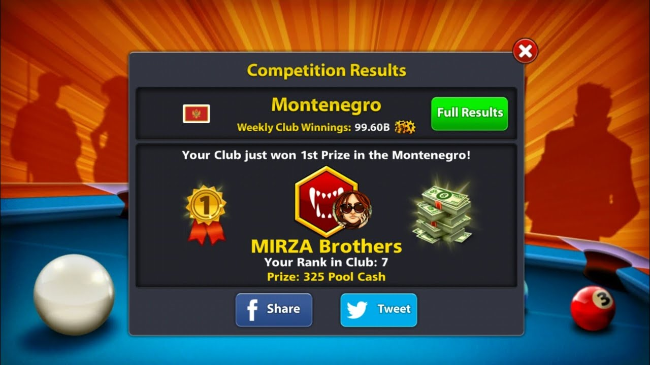 8 Ball pool Club winnings and rewards explained