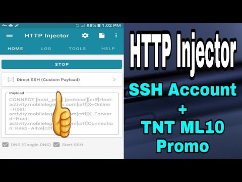 HTTP Injector - SSH Account + TNT ML10 Promo | Working 100%