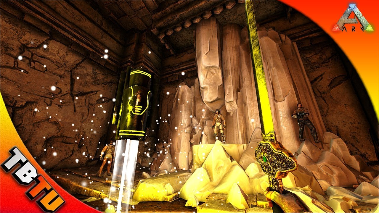 CAVE EXPLORING WITH GAMING EVOLVED! ARTIFACT OF THE DESTROYER! SCORCHED  SWORD SKIN! Ark Survival