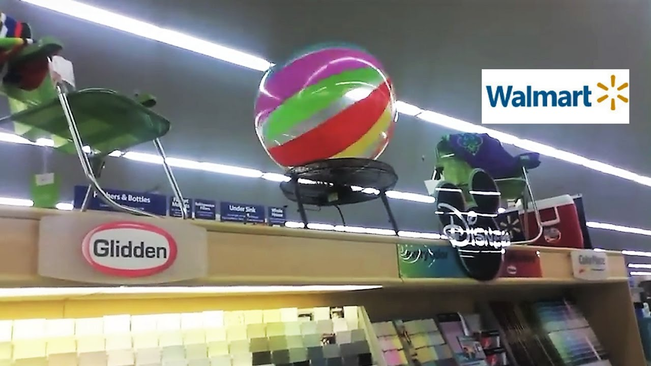 Only At Walmart Beach Ball Hovering Over A Fan Youtube