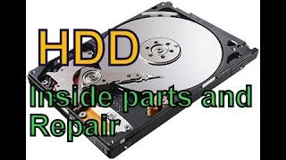 HDD , Hard Drive Main parts and  repair. ( Bangla)