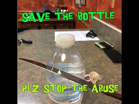 DESTROYING WATER BOTTLES #stop the abuse