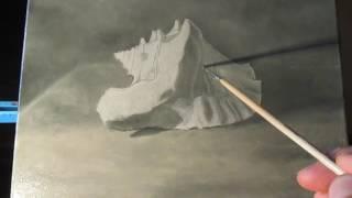 Пишем натюрморт с ракушкой (видеоурок 4) - многослойная живопись