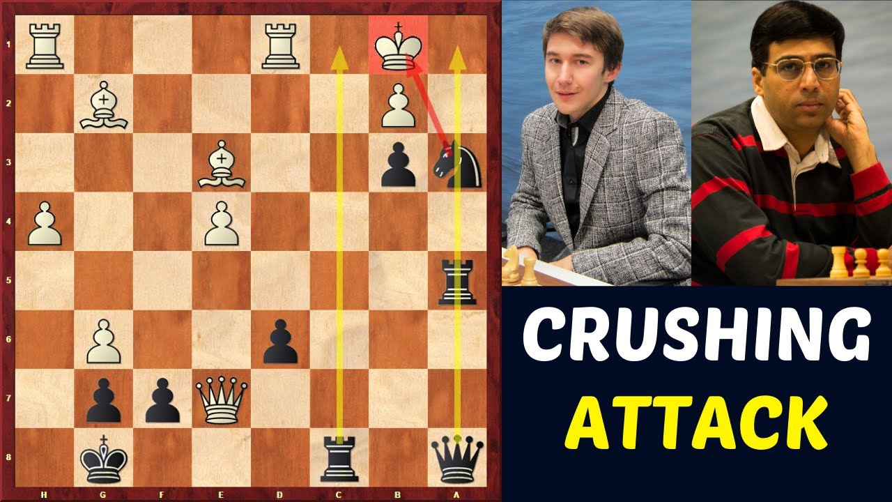 Anand crushed Karjakin in Sicilian Najdorf | Brilliant Attack