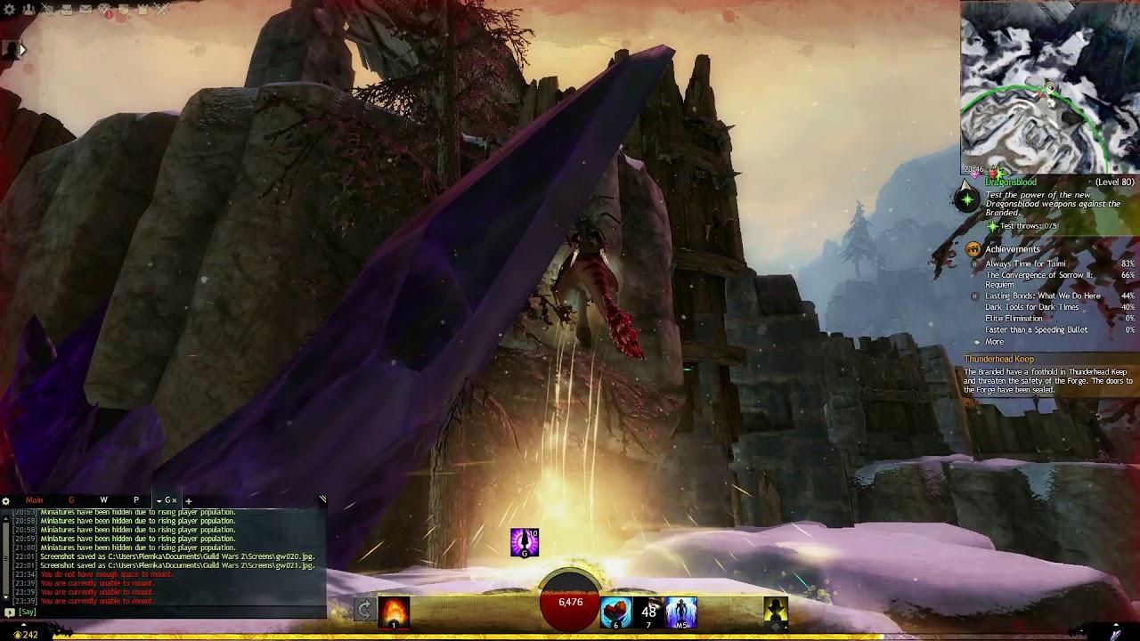 Guild Wars 2 (Thunderhead Peaks) - Thunderhead Keep Vista