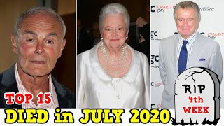 Top 15 Celebrities Who DIED in July 2020 || 4th WEEK || Recently Deaths