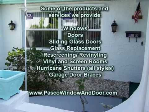 Window Repair, Replacement, Hurricane Shutters, New Port Richey, Spring Hill, Tarpon Springs, FL