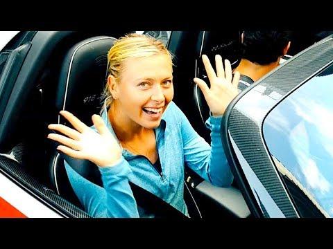 Maria Sharapova + Mark Webber: Joyride Porsche 918 Spyder Video Sexy Commercial CARJAM TV HD 2014