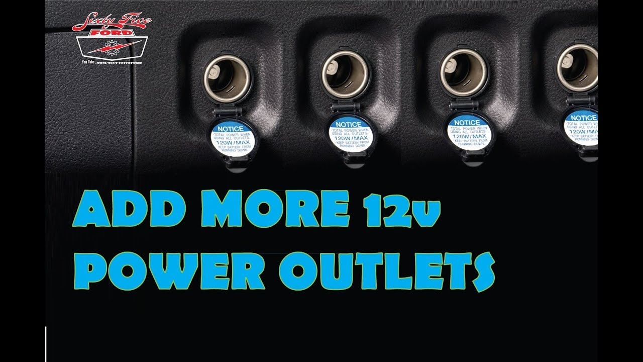 Add more Power Outlets to your car 12volt Cigarette Lighter - YouTube