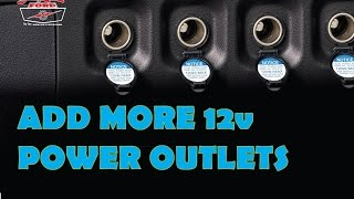 Add more Power Outlets to your car  12volt Cigarette Lighter(Auxiliary power outlets can be added quickly and easily. Here's the plug I used: ..., 2015-10-28T18:13:36.000Z)