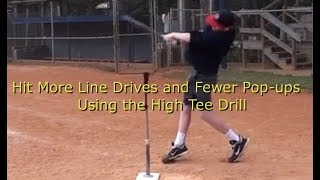 Baseball Hitting Drill-Hit More Line Drives and Fewer Pop Flies