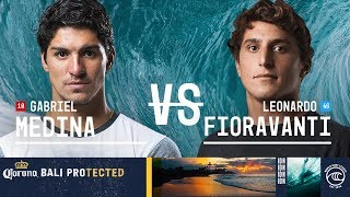 Gabriel medina takes on leonardo fioravanti in round of 32, heat 13 at the 2019 corona bali protected. #wslwatch full http://www.worldsurfleague....