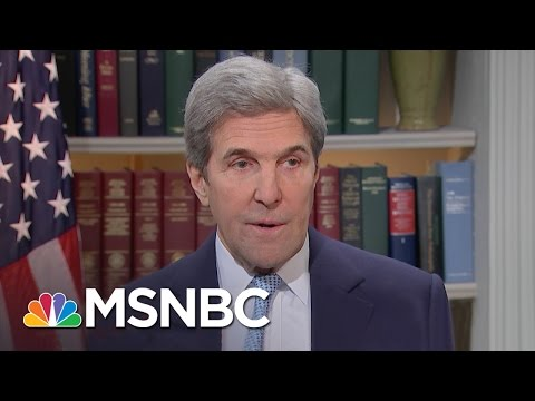 John Kerry On Israel Settlement Policy (Full Exclusive Interview) | Andrea Mitchell | MSNBC