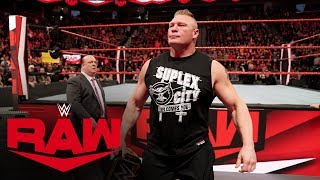 Brock Lesnar crashes match to determine his WWE Super ShowDown foe: Raw, Feb. 3, 2020