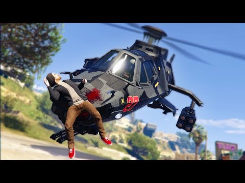 SNEAKING UP ON PEOPLE WITH A STEALTH HELICOPTER!   GTA 5 THUG LIFE #214