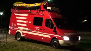 Persona Scomparsa Vigili del Fuoco Brunico - Missing Person in Bruneck (Many Firetrucks on scene)