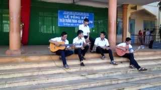 Tạm Biệt Nhé - 4 Củ Gừng Band Acoustic Cover Live THPT Cư M' Gar