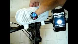 Bike / bicycle speaker bag / case + rechargeable lithium battery +USB & AUX