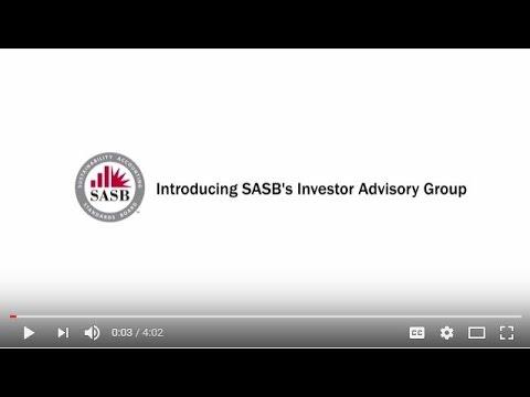 Introducing SASB's Investor Advisory Group