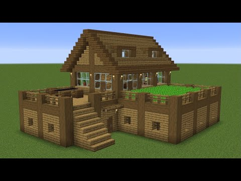 Minecraft - How to build a survival house with farm