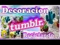 Decoracion Tumblr: 3 ideas reciclando materiales, muy facil! /Room Decor Tumblr