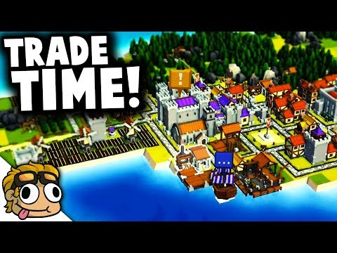 TRADE PORT w/ MERCHANTS! | Kingdoms and Castles Gameplay