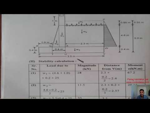 Design of cantilever retaning wall in Hindi By Parag K Pal - YouTube