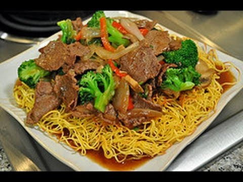 Recipe For Pan Fried Noodles With Beef Broccoli World Of Flavor Youtube