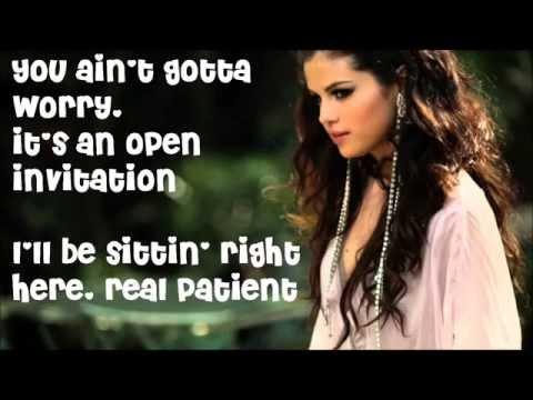 selena gomez come and get it karaoke lyrics on screen
