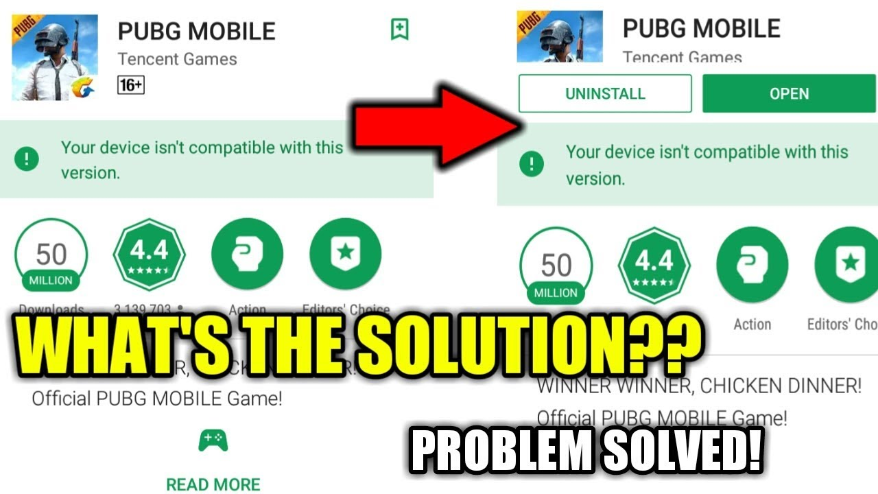Device is not Compatible to play PUBG MOBILE   PROBLEM SOLVED   What's The  solution ?? 2019